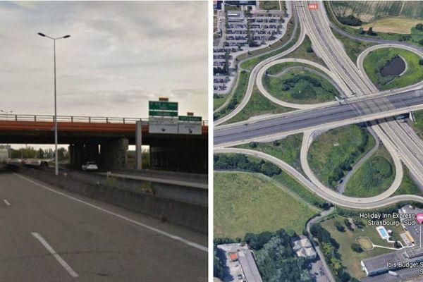 Ralentissements à prévoir sur la RD1083 tout l'été, le pont de l'échangeur de Fegersheim est en travaux de rafraîchissement