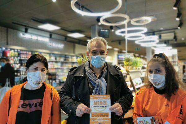 Andy Carlier soutient l'action de la Banque alimentaire dans les Hauts-de-France