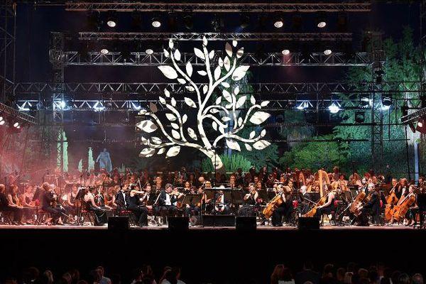 L'orchestre philharmonique de Nice ce 14 juillet 2017, à l'occasion d'une cérémonie empreinte d'une grande émotion.