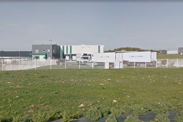 Le site d'Eurotranspharma à Saint-Laurent-Blangy, près d'Arras.