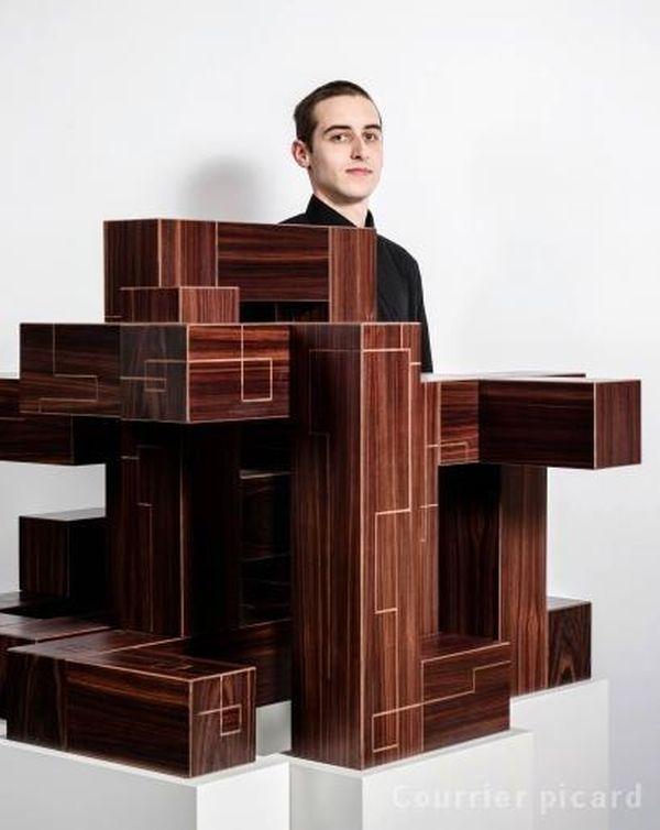 Lucas Molla deuxième prix national de l'Institut des métiers d'art en ébénisterie