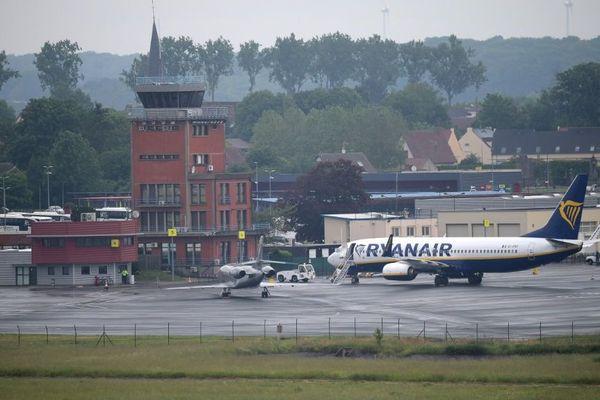 Un apparail de Ryanair à l'aéroport de Beauvais-Tillé en juin 2019.