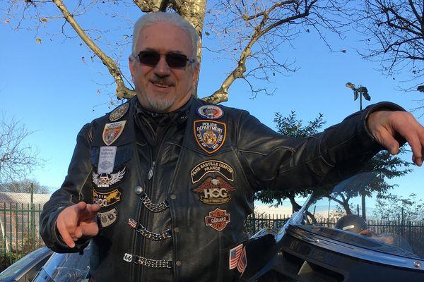 Gégé, biker et fan de Johnny Hallyday.