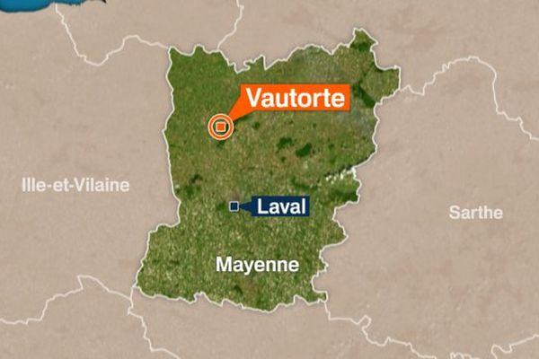 La commune de Vautorte se situe dans le département de la Mayenne.