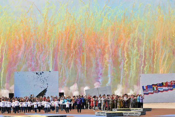 La cérémonie du 6 juin 2014 à Ouistreham marquant le 70e anniversaire du débarquement