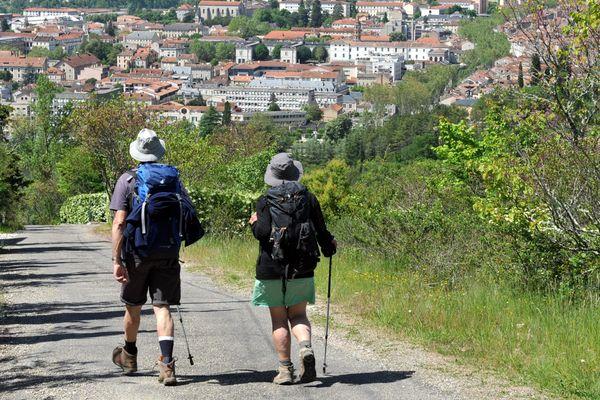 Des pèlerins en vue de Cahors