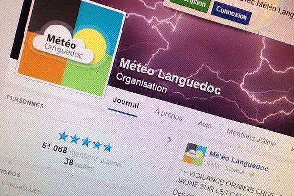 La page facebook de Météo Languedoc