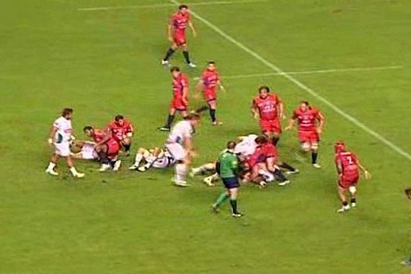 Béziers (Hérault) - Pau l'emporte 20 à 19 à au stade de la Méditerranée - 19 octobre 2013.