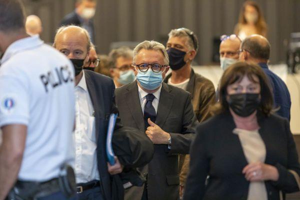 Jean-Noël Guérini lors du verdict de son procès pour détournement de fonds publics et trucages de marchés publics devant le tribunal judiciaire de Marseille.