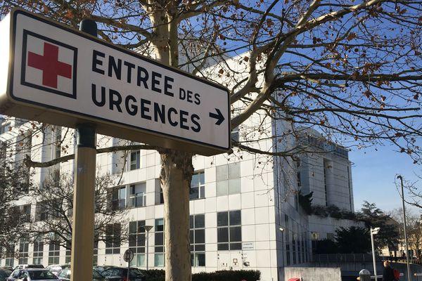 Entrée des urgences du CHRU de Nancy.