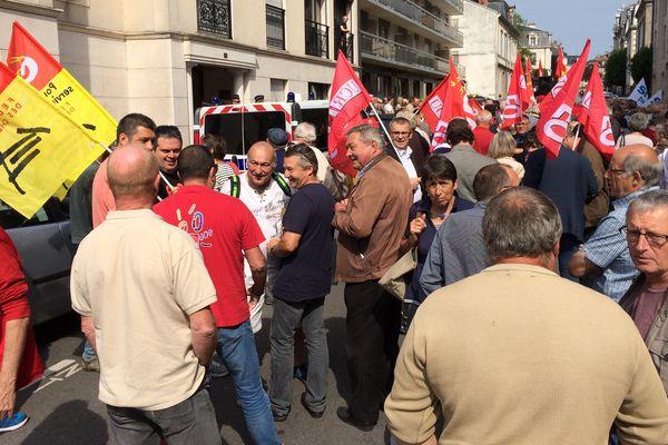 Manifestation des retraités le 14 juin 2018 à Limoges.