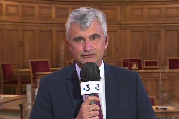 André Accary, le président sortant DVD du conseil départemental de Saône-et-Loire, le dimanche 27 juin 2021.
