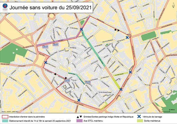 Les quatre roues bannies du centre-ville de Limoges ce samedi 25 septembre.