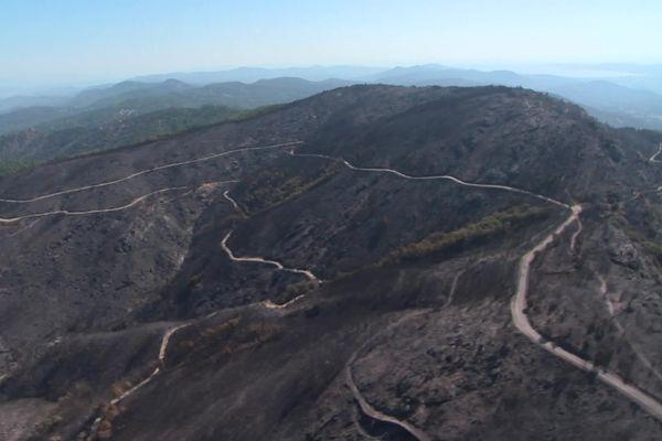 7 100 hectares ont brûlé depuis le 16 août dernier dans le massif des Maures (Var).