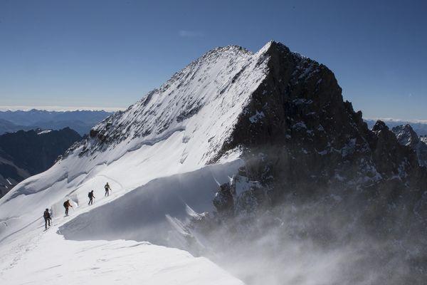 La barre des écrins dans les Hautes Alpes.