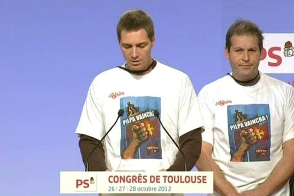 Une délégation de Pilpa à la tribune du congrès du PS à Toulouse