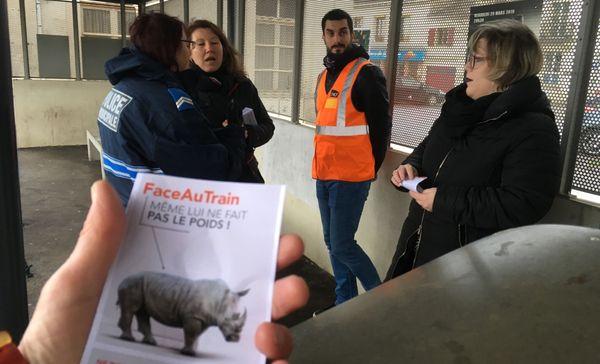 A Liverdun, la SNCF à la rencontre des usagers.