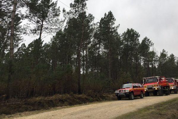 Les pompiers sur zone à Lubbon où 14 hectares ont brûlé