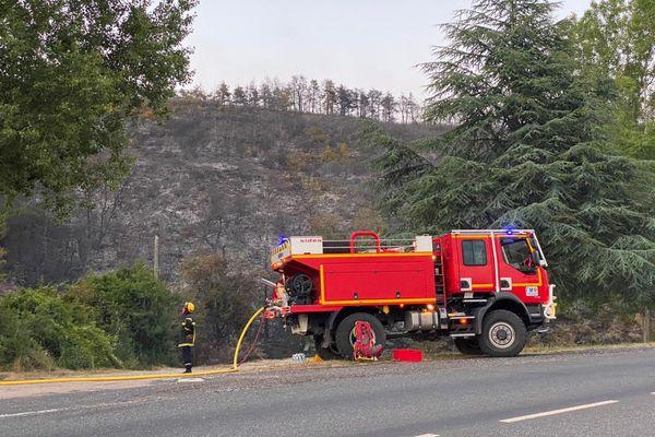 Un incendie a ravagé 50 hectares de végétation sur la commune de Séverac d'Aveyron