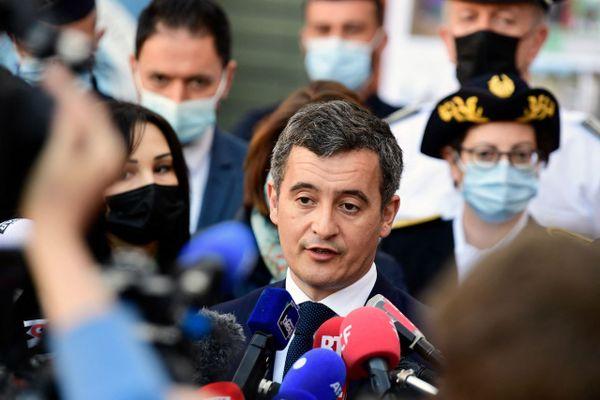 Le ministre de l'Intérieur Gérald Darmanin en visite à Marseille pour la présentation d'un plan national de lutte anti drogue.
