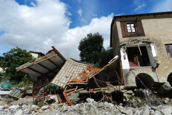 Le musée du patrimoine du Haut Pays depuis le passage de la tempête Alex.