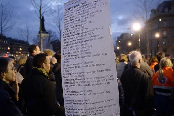 Le collectif Les Morts de la rue recense les décès en s'aidant de signalements de ses partenaires et des médias. (Illustration)