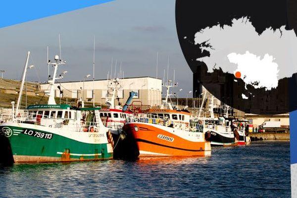 Sur les quais du port de pêche de Lorient