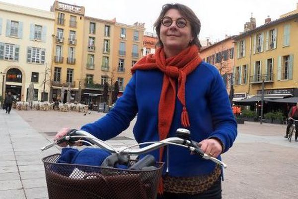 Agnès Langevine, candidate EELV à la mairie de Perpignan.