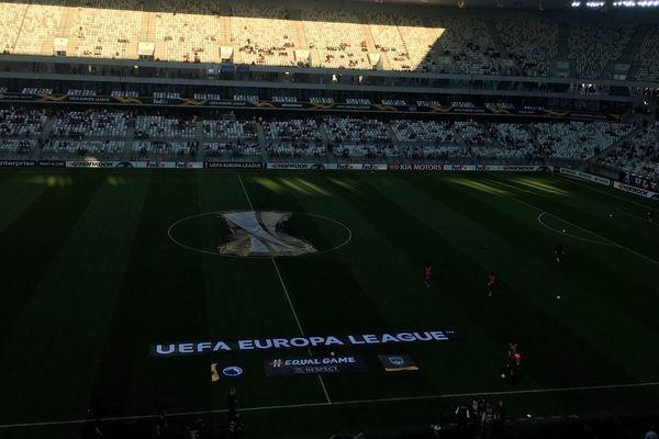 Le stade Matmut Atlantique à dix minutes du coup d'envoi de la rencontre entre Bordeaux et Copenhague, le 4 octobre 2018.