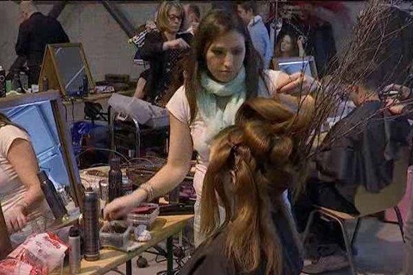 """Le concours régional de coiffure avait pour thème """"le développement durable""""."""