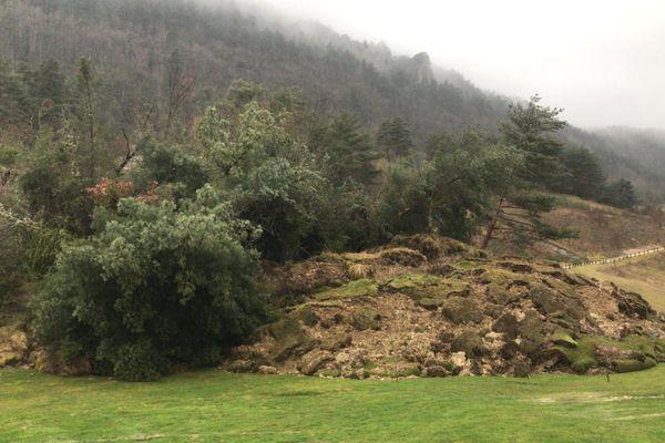 Le golf des Gorges du Tarn, à deux kilomètres de La Canourgue, en Lozère, le 12 février 2021.