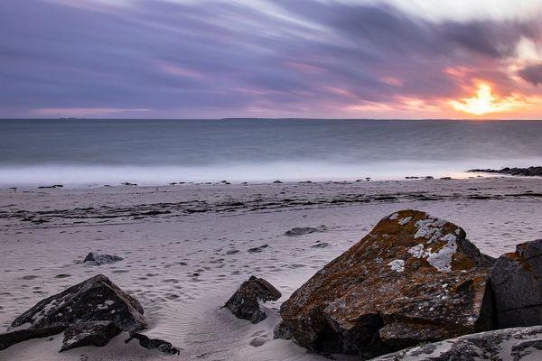 Le coucher de soleil du jour de Cédric Mirail à la pointe Saint-Mathieu