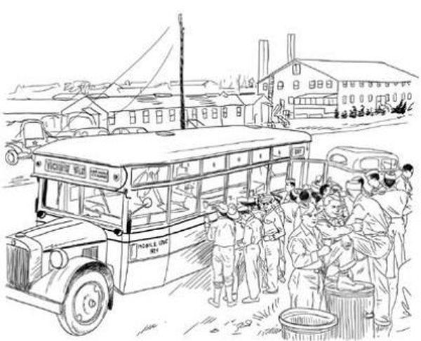 Le camp Kilmer, 1943, vu par Louis Castel
