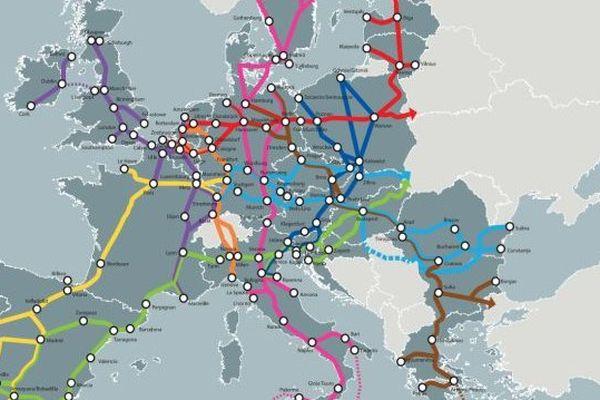 La Commission européenne a redéfini son Réseau Transeuropéen de Transport autour de neuf corridors principaux d'ici 2030