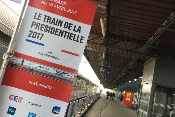 Le train de la Présidentielle 2017 en gare de Caen - 13 mars 2017