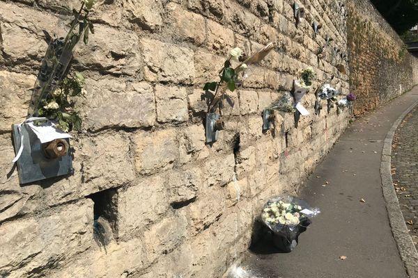 De nombreux témoignages en hommage à Axelle Rodier, victime d'un tragique accident, dans le 5e arrondissement de Lyon.