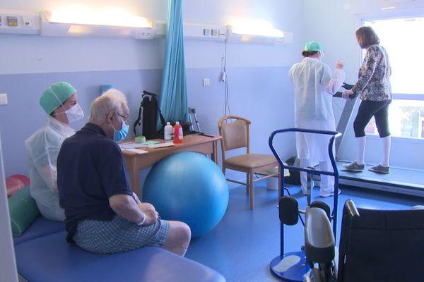 Le service de rééducation du Centre médical mutualiste des sept collines accueillent 30 patients, pour le moment.