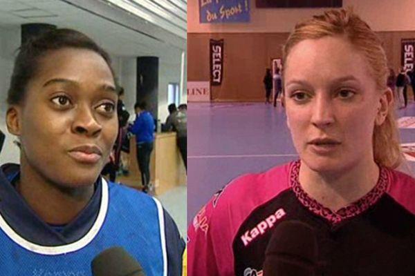 Gnonsiane Niombla (g) et Manon Houette (d) viennent d'être appelées en Equipe de France de handball.