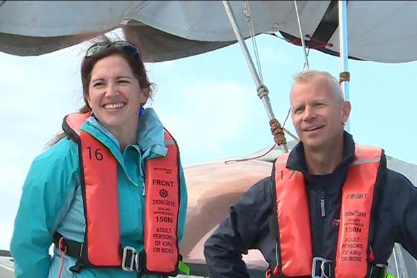 Anne-Leïla Meistertzheim, chercheuse du  Laboratoire d'Océanographie Microbienne de Banyuls-sur-Mer et membre de l'expédition Tara Mission Microplastiques