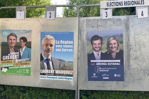 En Auvergne-Rhône-Alpes, 3 listes se présentaient au second tour des élections régionales