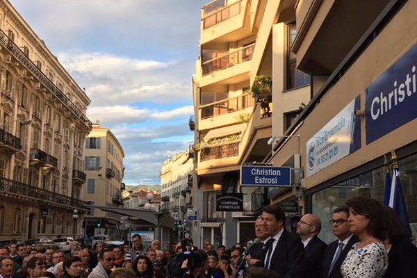 Christian Estrosi à Nice ce lundi 8 mai.