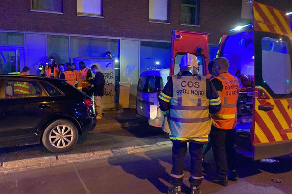 Les secours présents sur les lieux de l'incident, dans le quartier Vauban.