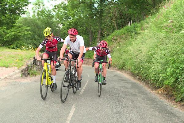 Dans la montée d'Uchon, des passages à 18% qui risquent de faire mal aux cyclistes