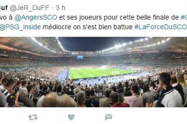 Le hashtag #LaForceDuSCO a rassemblé des centaines de tweets de remerciement et de félicitations malgré la défaite du club angevin.
