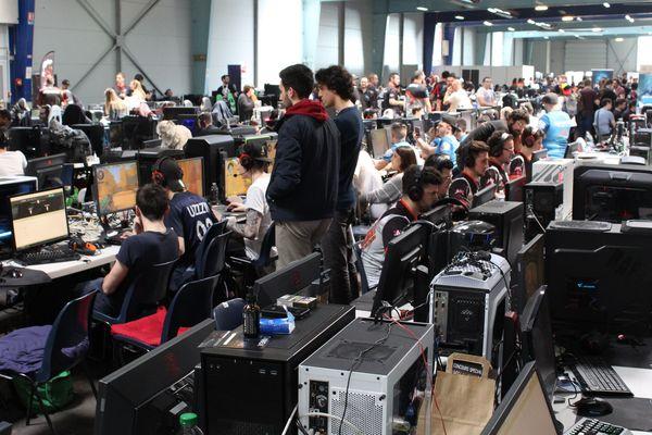 La LAN-Party, immense jeu en réseau, lors de l'édition 2018 de la Dreamhack de Tours.
