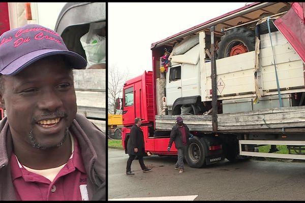 Souleyman Diallo va pouvoir reprendre la route grâce à l'aide de routiers.