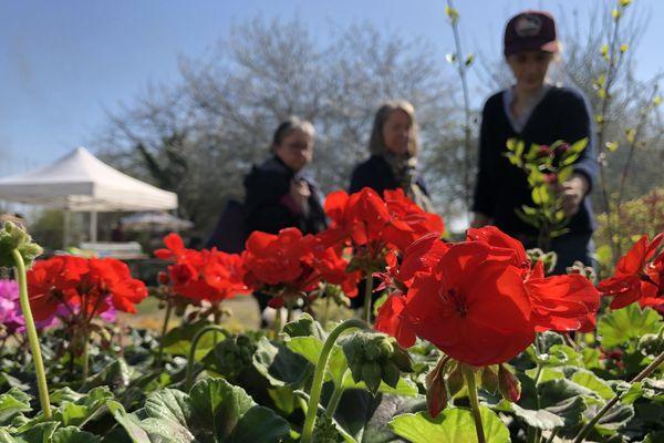 La première édition de la Fête des plantes s'est tenue à l'Écomusée du Perche, samedi 30 et dimanche 31 mars.