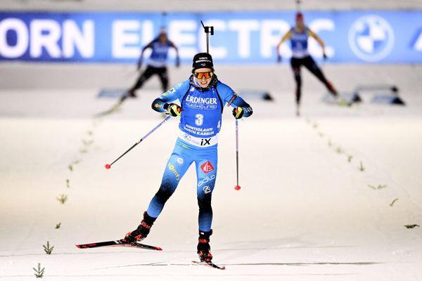 Anaïs Chevalier-Bouchet, deuxième du sprint de Kontiolahti, en Finlande, pour la deuxième étape de coupe du monde de biathlon.
