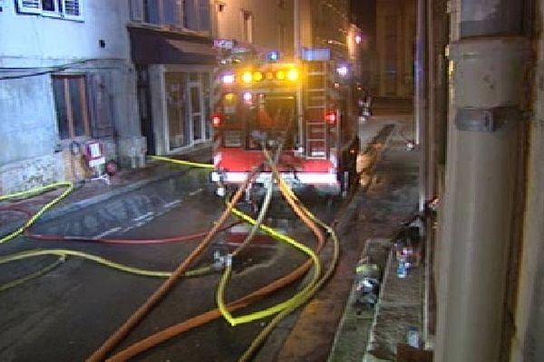 Incendie rue de la Loi à Limoges, 30 octobre 2012 ( vers 2h)