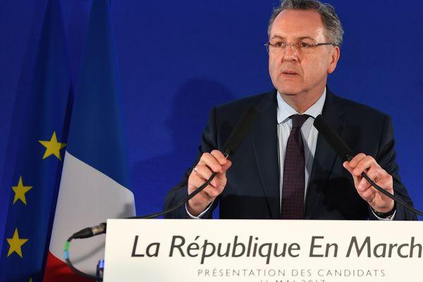 Richard Ferrand lors de la présentation des investitures des candidats La République en marche pour les législatives.
